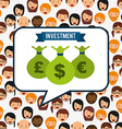 investment concept design vector image