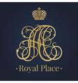Letter A monogram royal logo vector image vector image