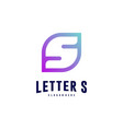 letter s logo icon design concepts initial s logo vector image vector image