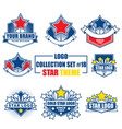 logo collection set with star theme vector image vector image