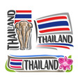 logo for thailand vector image