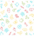origami signs thin line seamless pattern vector image