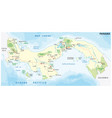 panama road and national park map vector image vector image