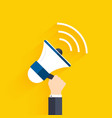 People holding a megaphone Business flat vector image vector image