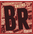play online poker tournament 1 text background vector image vector image