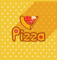 poster in flat style with slice of pizza vector image vector image