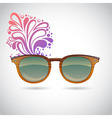 Realistic old-fashioned hipster glasses vector image vector image