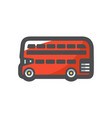 red london bus icon cartoon vector image