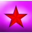 Red metallic star on a purple background EPS 8 vector image