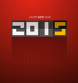 Retro Happy New Year 2015 Title on Dark Red vector image