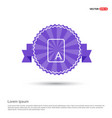 sample text icon - purple ribbon banner vector image