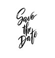 save the date wedding lettering vector image