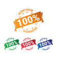 set of colorful badge money back with guarantee vector image