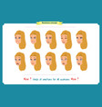 set of woman expression isolatedbusinesswoman vector image vector image