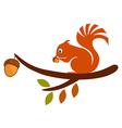 Squirrel on Tree vector image vector image