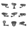 Surveillance Camera Icons vector image vector image