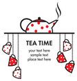 tea time icon vector image