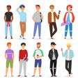 teenage boy young male person character and vector image