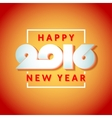 Text design of happy new year 2016 vector image vector image