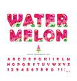 watermelon summer bright font cartoon decorative vector image vector image