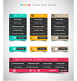 Web price shop panel with space for text and buy vector image vector image