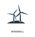 windmill icon flat style icon design ui vector image
