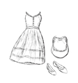 Women clothes and accessories vector image