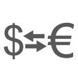 currency exchange icon simple vector image