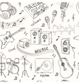 Abstract Music seamless pattern with musical vector image