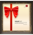 Gift envelope with a bow in box vector image