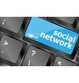 Social network keyboard key button Keyboard keys vector image