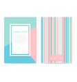 set of geometric design cards vector image