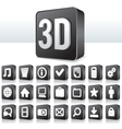 3d apps icon technology pictograph on square