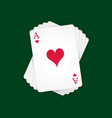 Ace of Hearts vector image