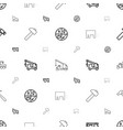 advertising icons pattern seamless white vector image vector image