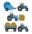 Agricultural Tractor Set 5 vector image