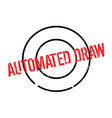 automated draw rubber stamp vector image
