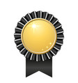 award ribbon gold icon golden black medal design vector image vector image