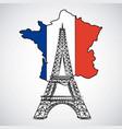 bastille day french celebration vector image vector image