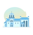 beautiful monastery of diocese of serbian church vector image