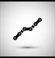 bicycle chain bicycle accessories icon vector image vector image