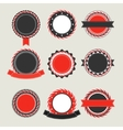 Black and red vintage badges templates vector image vector image