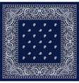 blue bandanna vector image