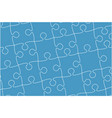 blue banner pieces puzzle jigsaw banner vector image vector image