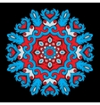 Bright round ornamental element for design in red vector image