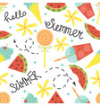 cartoon seamless pattern summer background vector image vector image