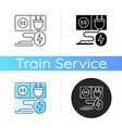 charging socket icon vector image