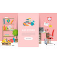 childens goods shop landing page in flat cartoon vector image vector image