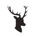 christmas deer animal horned decoration vector image vector image
