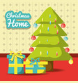 christmas home design vector image